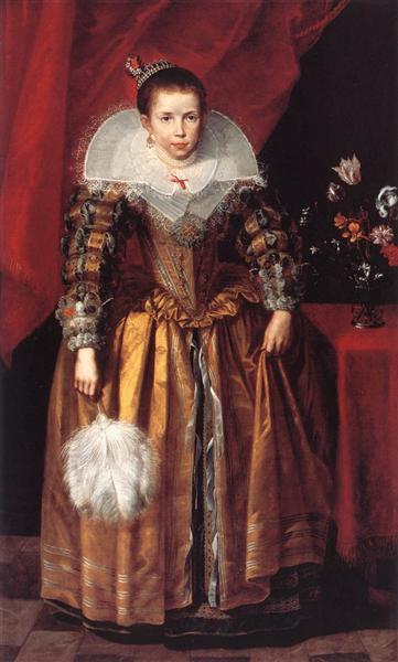 Portrait of a Girl at the Age of 10 - Cornelis de Vos