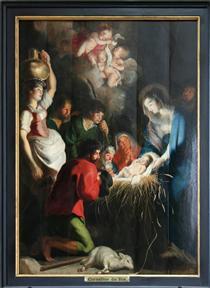 The Birth of Jesus - Корнелис де Вос