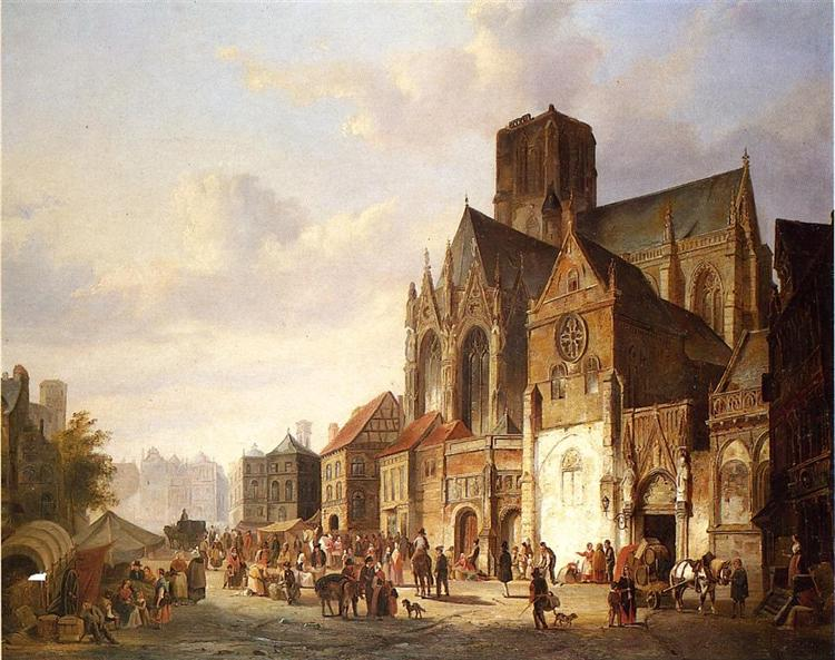 View of Montelspran, 1845 - Cornelis Springer