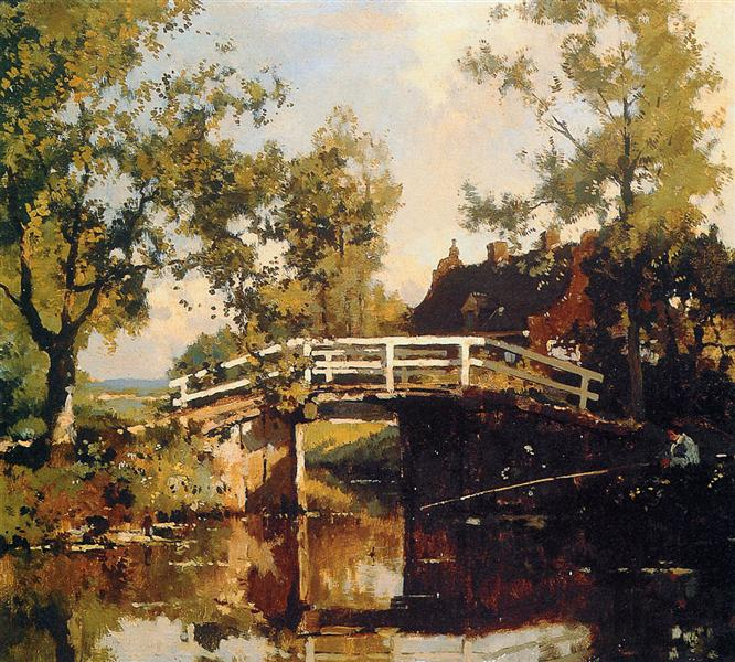 Bridge Near Estate Linschoten - Корнелис Вреденбург