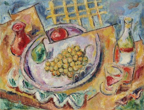 Still Life With Fruits - Corneliu Michailescu