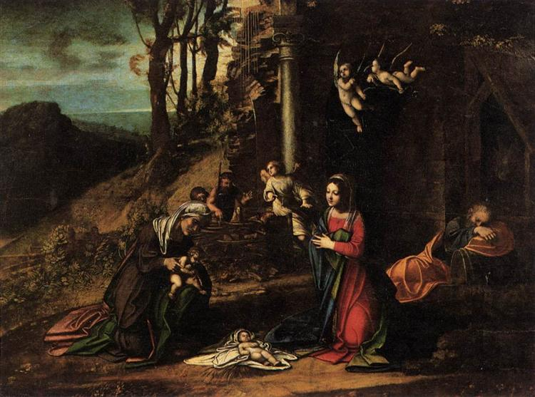 Adoration of the Christ Child, c.1515 - Correggio