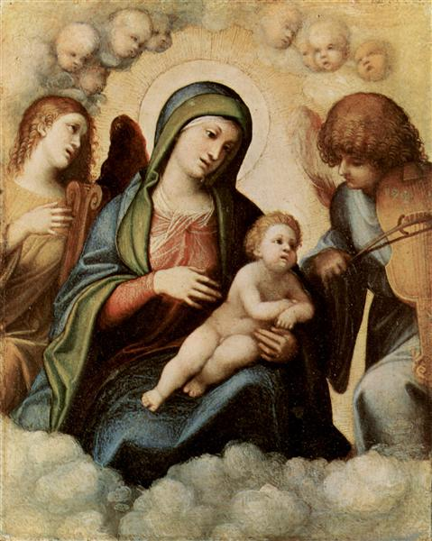Madonna and Child with Angels - Correggio