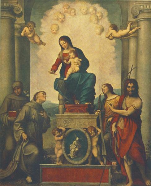 Madonna and Child with Saint Francis, 1514 - Correggio