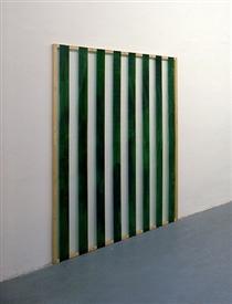 Reflets n°33 - Peinture sur plexiglas 1/2, travail situé - Даниель Бюрен