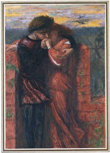 Carlisle Wall (The Lovers), 1853 - Dante Gabriel Rossetti