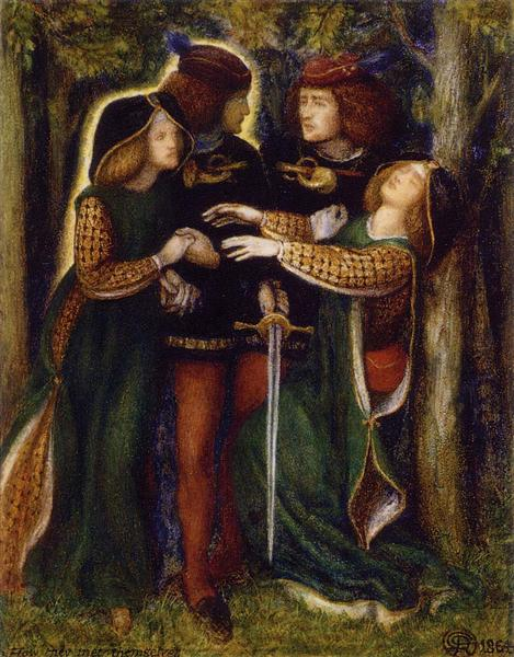 How They Met Themselves, 1864 - Dante Gabriel Rossetti