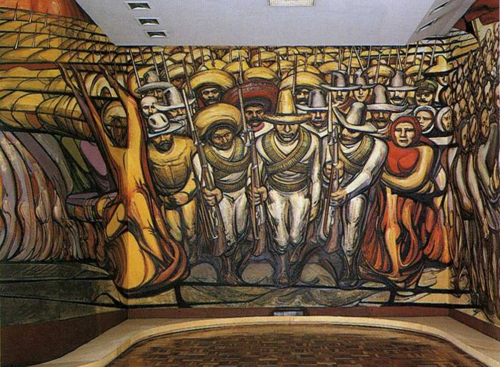 The Revolution (mural) - David Alfaro Siqueiros - WikiArt ...