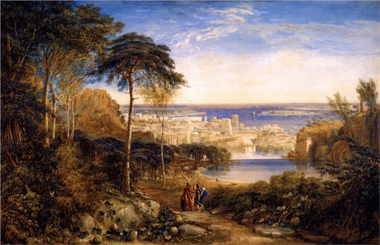 Carthage. Aeneas and Achates - David Cox