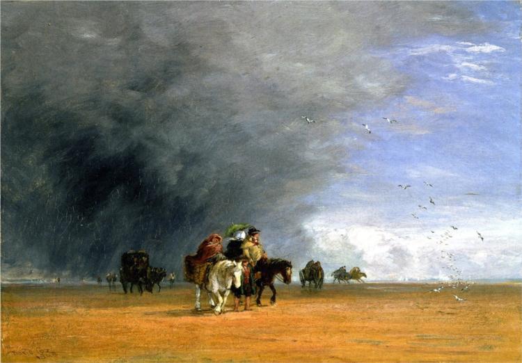 Crossing the Sands, 1848 - David Cox