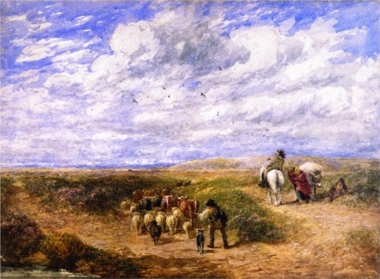 Keep the Left Road, 1854 - David Cox