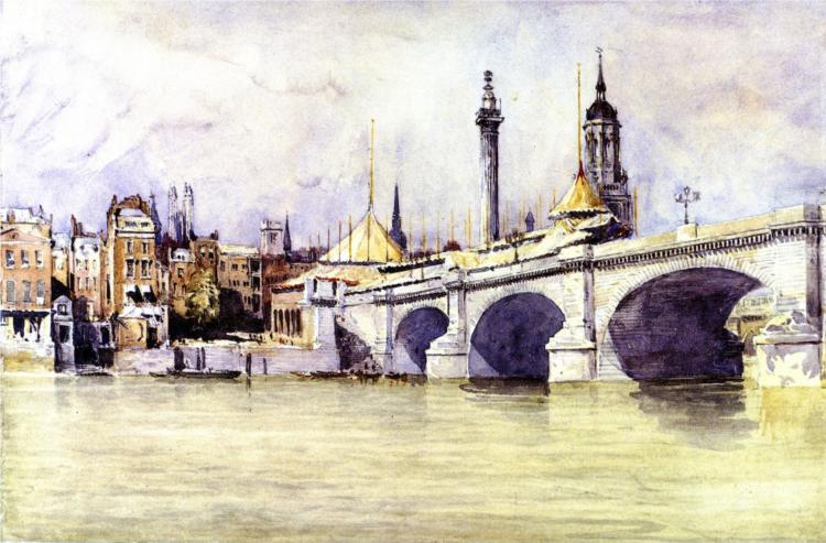 The Opening of the New London Bridge, 1853 - David Cox