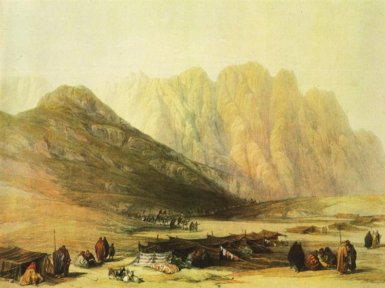 Encampment of the Oulad Said - David Roberts