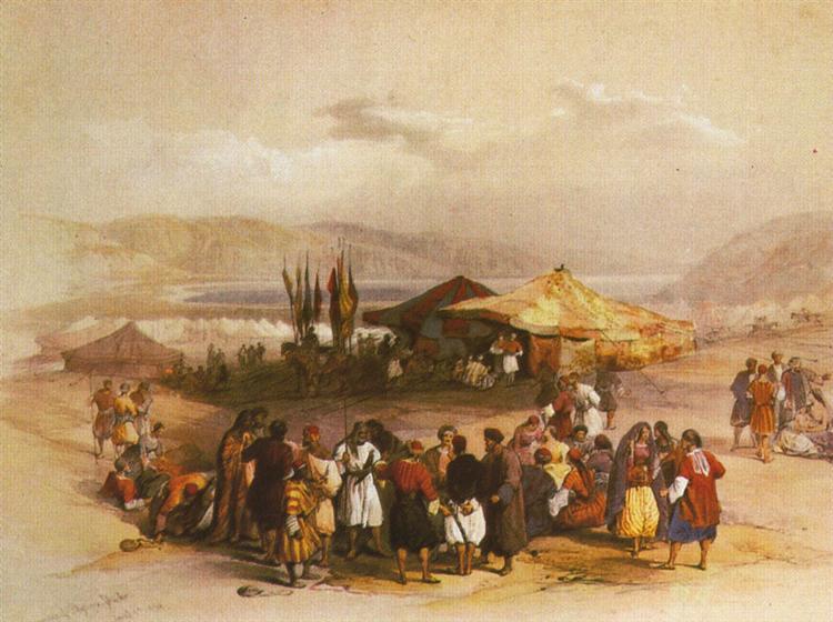 Encampment of the Pilgrims at Jericho - David Roberts