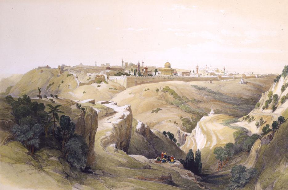 Jerusalem from the Road Leading to Bethany, 1833