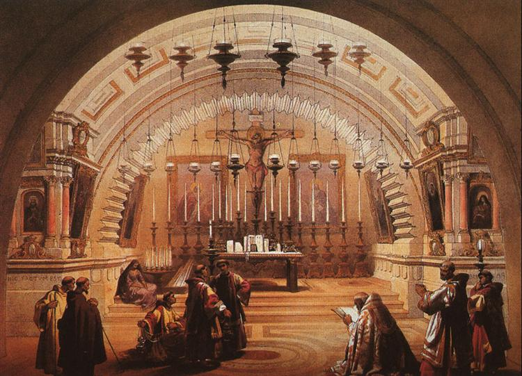 The Exterior of the Holy Sepulchre and Calvary - David Roberts