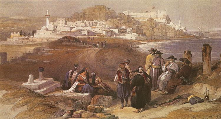 View of Jaffa from the South - David Roberts