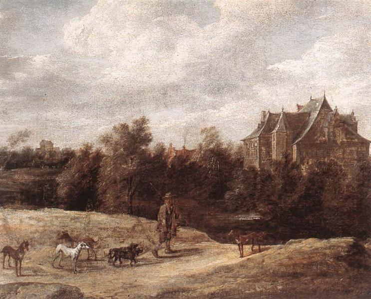 Return from the Hunt, 1670 - David Teniers el Joven
