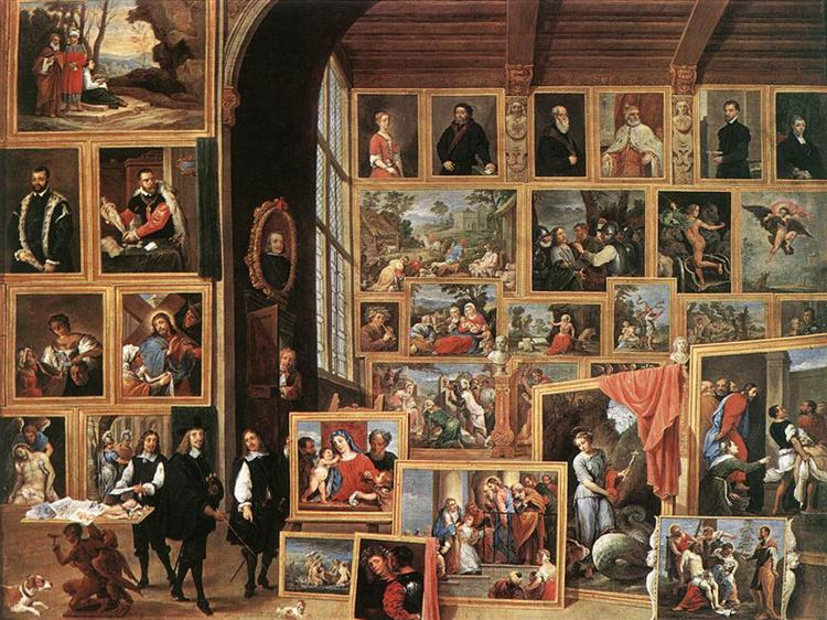 The Picture Gallery of Archduke Leopold Wilhelm, 1640 - David Teniers the Younger