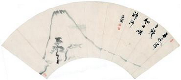 Hanging Scroll, Fan Painting - Deiryu