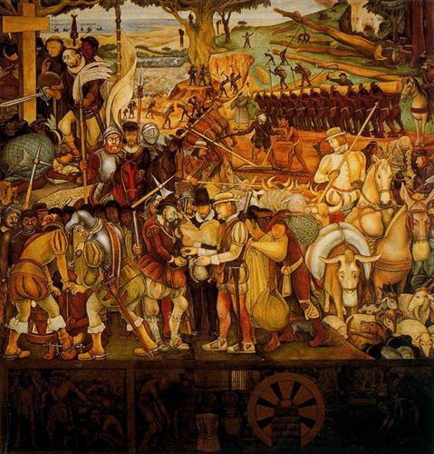 Colonisation, 'The Great City of Tenochtitlan' - Diego Rivera