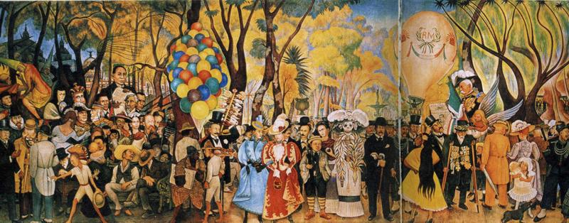 Dream of a sunday afternoon in alameda park 1948 diego for Diego rivera creation mural