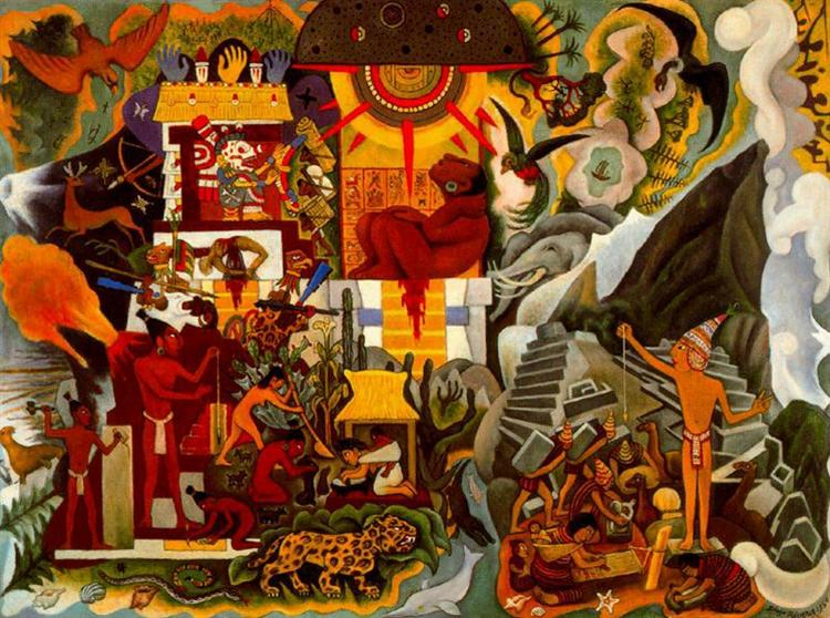 Pre-Hispanic America, 1950 - 迭戈·里韋拉
