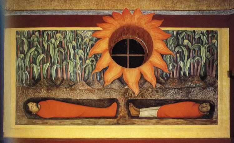 The Blood of the Revolutionary Martyrs Fertilizing the Earth, 1926 - 1927 - Diego Rivera
