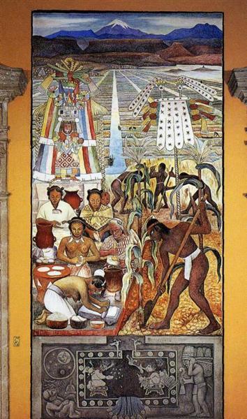 The Huastec Civilisation, 1950 - Diego Rivera