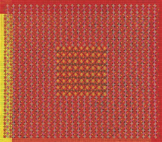 Appearance of Crosses, 2001 - Ding Yi