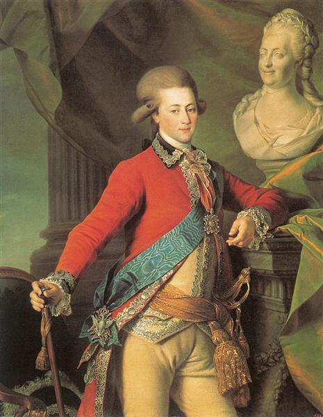 Portrait of Alexander Lanskoy, Aide-de-camp to the Empress - Dmitry Levitzky