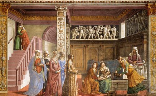 The Birth of Mary - Domenico Ghirlandaio