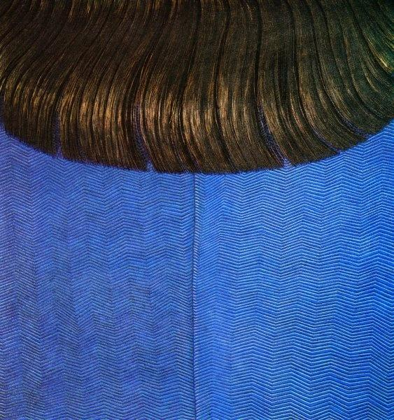Red Hair on Blue Dress, 1969 - Domenico Gnoli