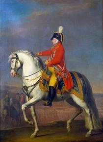 Retrato equestre de João V de Portugal - Domingos de Sequeira