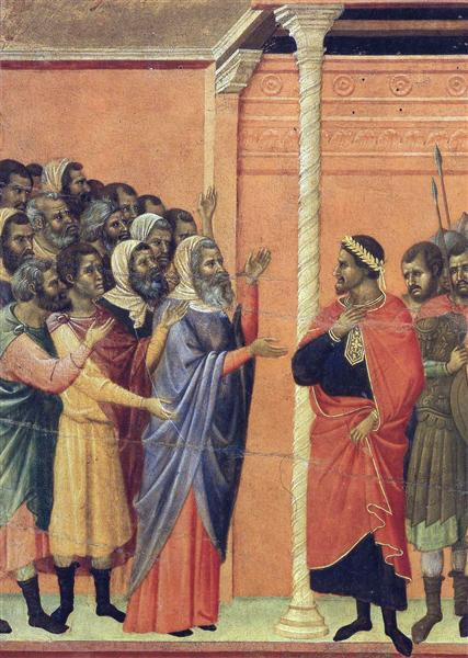 The high priests before Pilate, 1308 - 1311 - Duccio