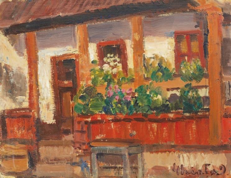Verandah With Flowers - Dumitru Ghiatza