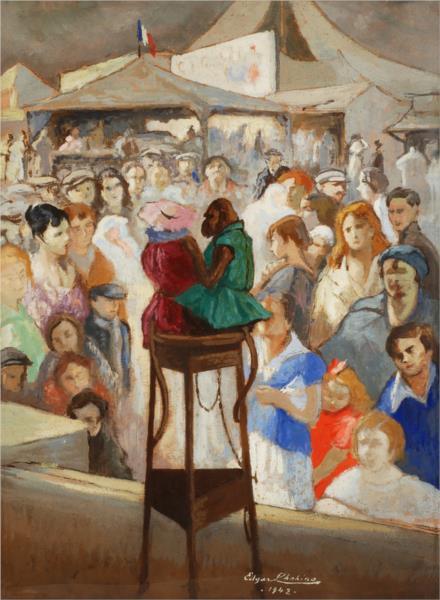 The Monkeys at the Fair, 1942 - Edgar Chahine