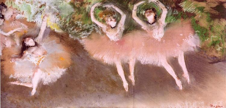 Ballet Scene, c.1879 - Edgar Degas