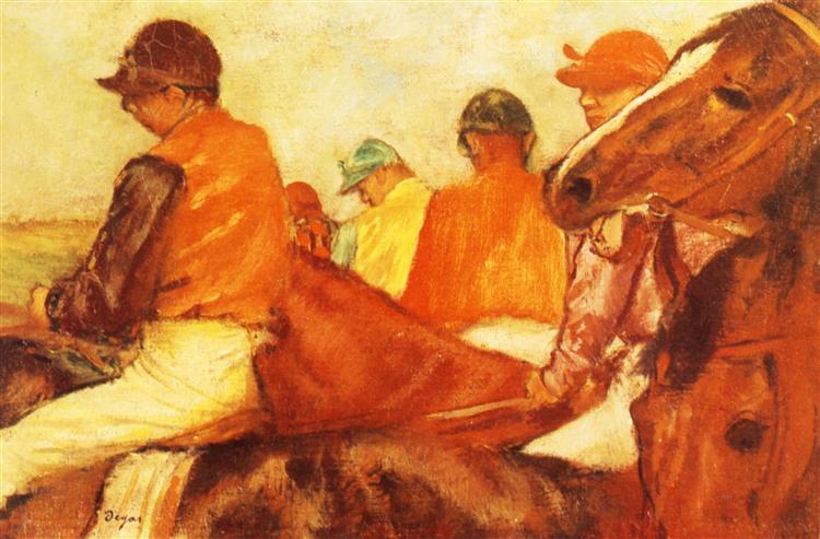 Jockeys, 1881 - Едґар Деґа