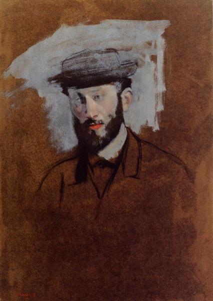 Portrait of Eugene Manet (study), c.1875 - Edgar Degas