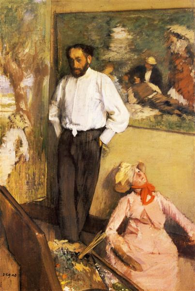 Portrait of Henri Michel-Levy in his studio, 1878 - 1879 - Edgar Degas