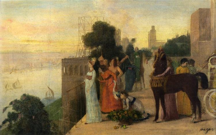 Semiramis Building a City, 1861 - Edgar Degas