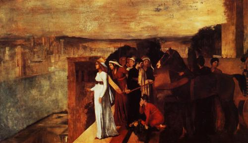 Semiramis Building Babylon - Edgar Degas