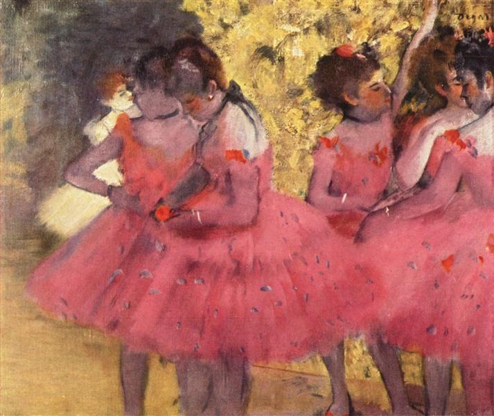 The Pink Dancers, Before the Ballet, 1884 - Edgar Degas