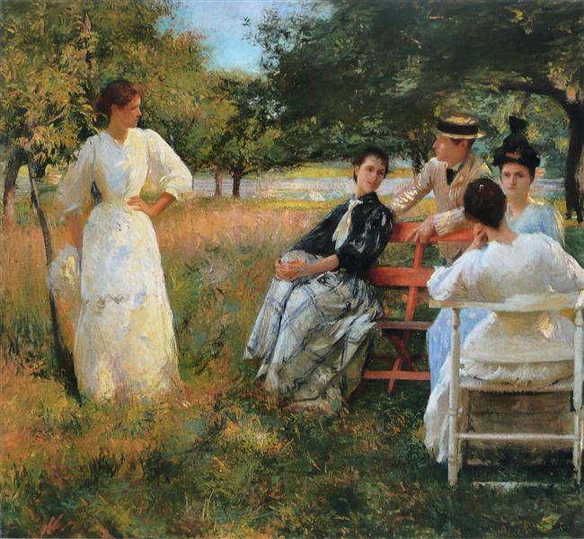 In the Orchard, 1891 - Едмунд Чарльз Тарбелл