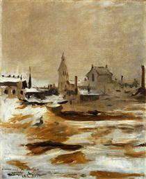 Effetto della neve a Petit-Montrouge - Edouard Manet