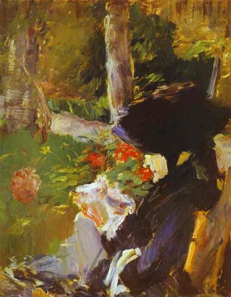 Mother in the Garden at Bellevue, 1880 - Edouard Manet