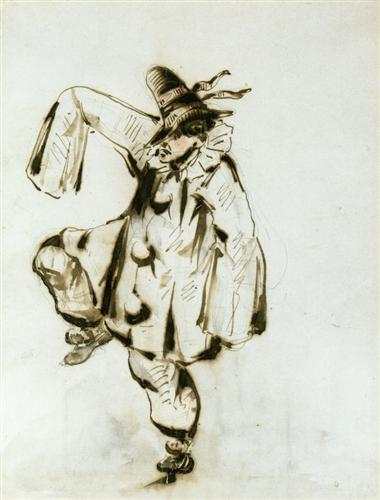 Pierrot dancing - Edouard Manet