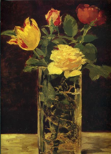 Rose and tulip - Edouard Manet