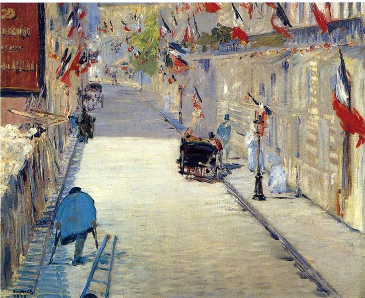 Rue Mosnier decorated with Flags, 1878 - Edouard Manet